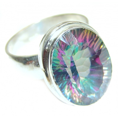 Top Quality Magic Topaz .925 Sterling Silver handcrafted Ring s. 12