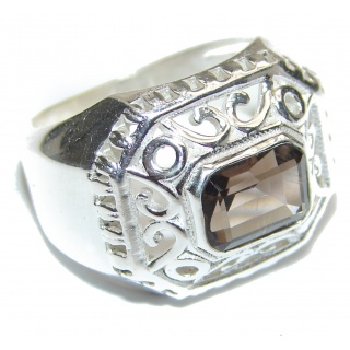 Champagne Smoky Topaz .925 Sterling Silver Ring size 6