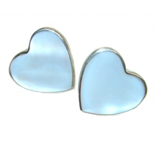 Sweet Beauty Blister Pearl .925 Sterling Silver handmade Earrings