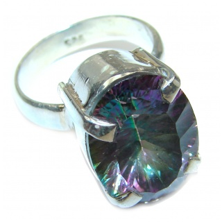 Top Quality Magic Topaz .925 Sterling Silver handcrafted Ring s. 8