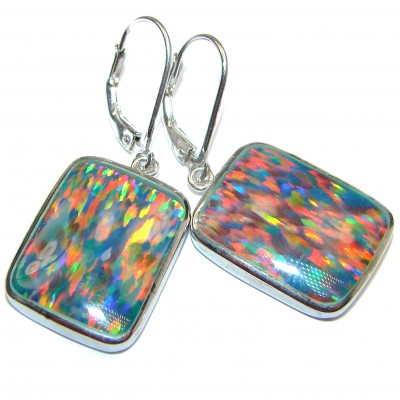 Classy Design Triplet Opal .925 Sterling Silver handmade earrings