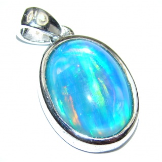 Perfection Doublet Opal .925 Sterling Silver handmade Pendant
