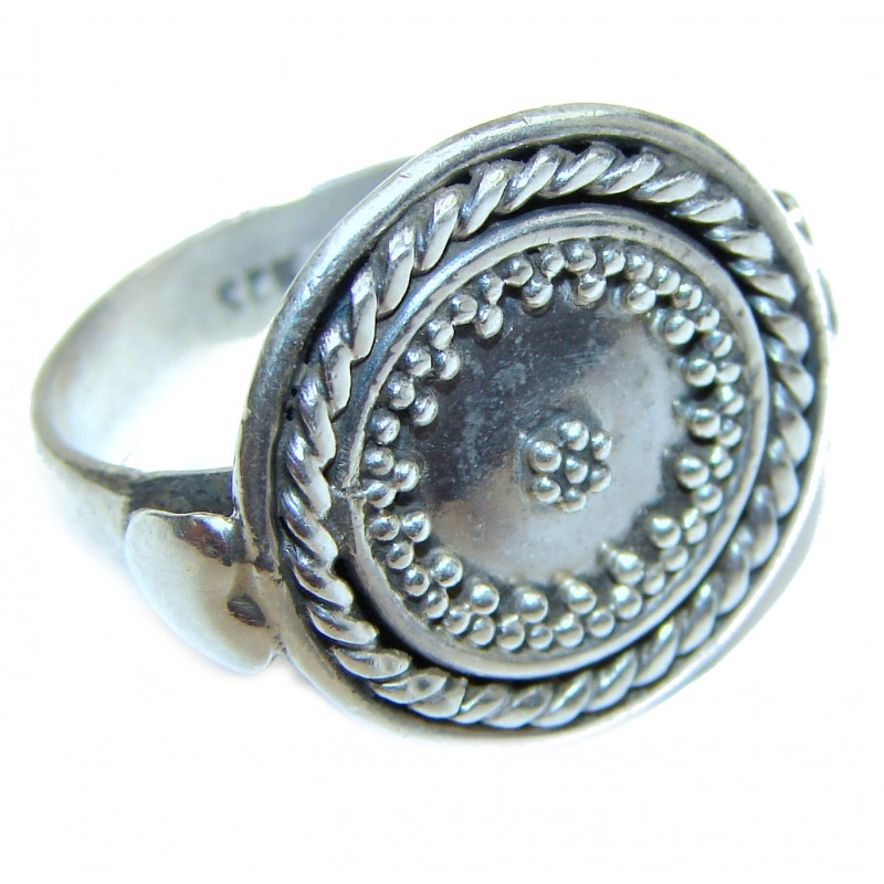 Large Bali made .925 Sterling Silver handcrafted Ring s. 9