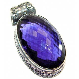 Purple Moon lab. Alexandrite .925 Sterling Silver handcrafted Pendant