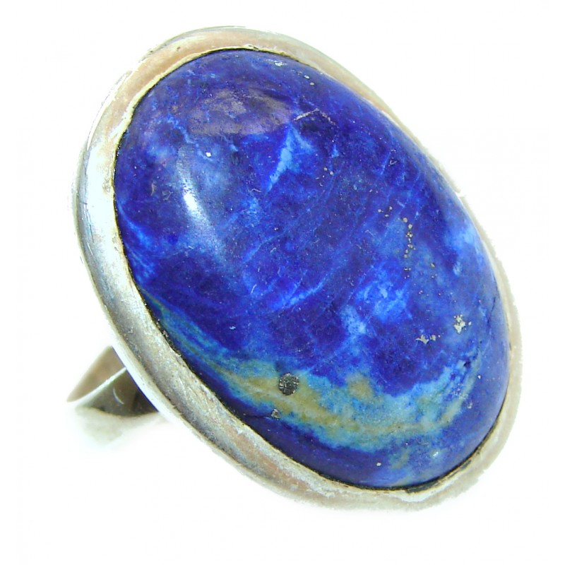 Natural Lapis Lazuli .925 Sterling Silver handcrafted ring size 10