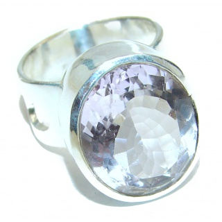 White Topaz .925 Sterling Silver handmade Ring s. 6