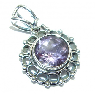 Amethyst .925 Sterling Silver handcrafted pendant