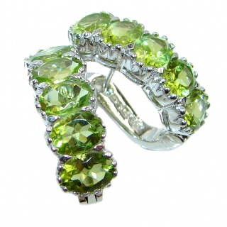Spectacular Authentic Peridot .925 Sterling Silver handmade earrings