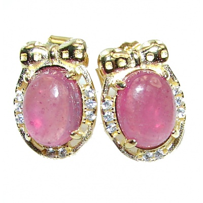 Cute Baby Feed Authentic Ruby .925 Sterling Silver handmade earrings