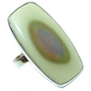 Huge Genuine Imperial Jasper .925 Sterling Silver handcrafted ring s. 9