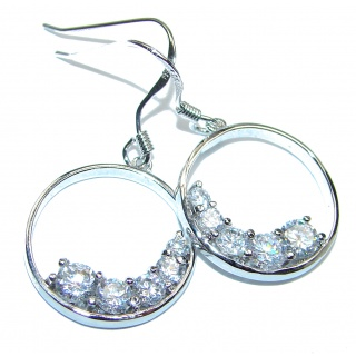 Classy White Topaz .925 Sterling Silver handcrafted earrings