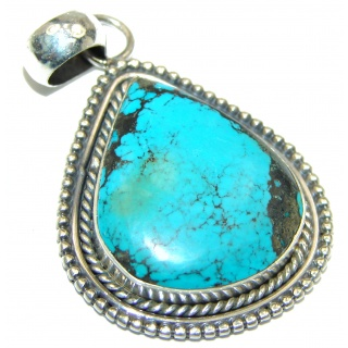 Genuine Turquoise .925 Sterling Silver handcrafted Pendant