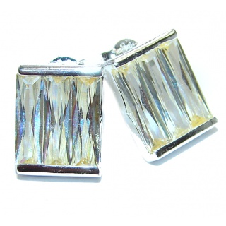 Classy Yellow Topaz .925 Sterling Silver handcrafted earrings