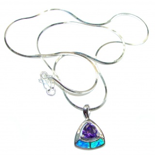 Japanese Fire Opal .925 Sterling Silver handmade Necklace