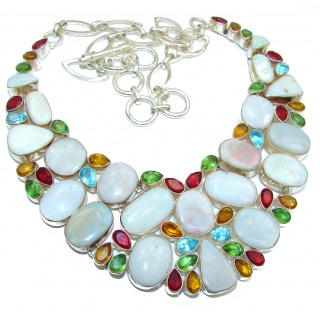 Spectacular Vitage Style Doublet Opal .925 Sterling Silver brilliantly handcrafted necklace