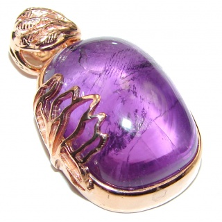 Top Quality Natural 45ct Amethyst .925 Sterling Silver handmade one of the kind Pendant