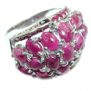 Royal quality Authentic Ruby .925 Sterling Silver Statement ring size 9 1/2