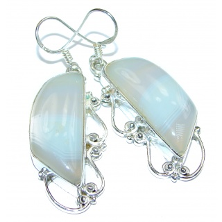 Chalcedony Agate .925 Sterling Silver earrings