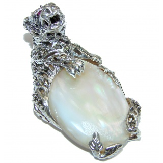 Wild Tiger Genuine Blister Pearl .925 Sterling Silver handcrafted Pendant