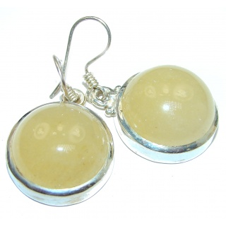Golden Agate .925 Sterling Silver handmade earrings
