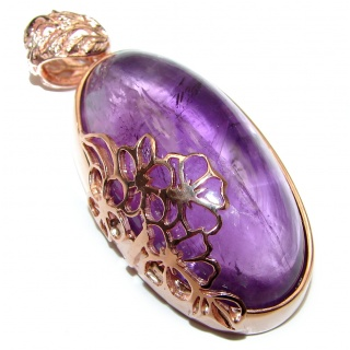 Top Quality Natural 145ct Amethyst .925 Sterling Silver handmade one of the kind Pendant