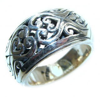 Bali made .925 Sterling Silver handcrafted Ring s. 8