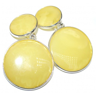 Excellent Golden Calcite .925 Sterling Silver clip on earrings