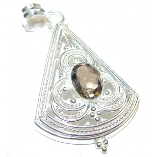 Smoky quartz .925 Sterling Silver handcrafted pendant