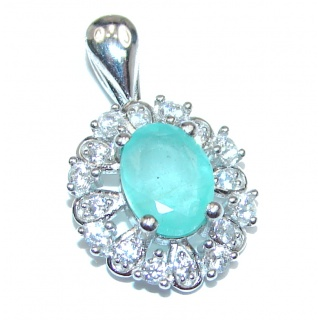 Deluxe Emerald .925 Sterling Silver handmade Pendant