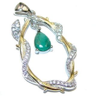 Valentina Sublime genuine Emerald .925 Sterling Silver handmade Pendant