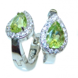 Aurora Authentic Peridot .925 Sterling Silver handmade earrings