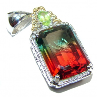 Deluxe Tourmaline .925 Sterling Silver handmade Pendant
