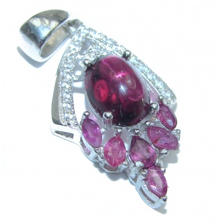 Posh Authentic Garnet .925 Sterling Silver Pendant
