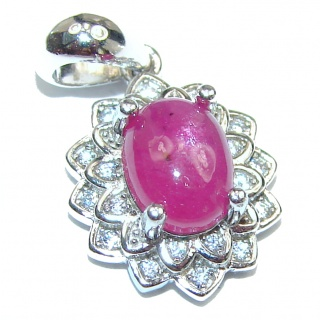 Authentic petite Ruby .925 Sterling Silver Pendant