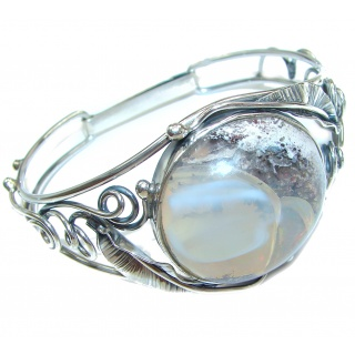Vintage Design Top Quality Mexican Opal .925 Sterling Silver handmade Bracelet