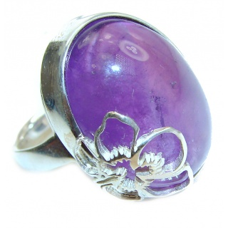 Purple Perfection Amethyst .925 Sterling Silver Ring size 7 adjustable
