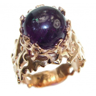 Purple Reef Amethyst 14K Gold over .925 Sterling Silver Ring size 8