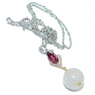 Authentic Ruby rose gold over .925 Sterling Silver necklace