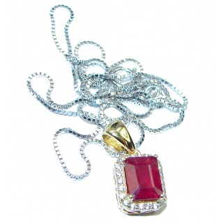 Incredible Authentic Ruby White Topaz .925 Sterling Silver necklace