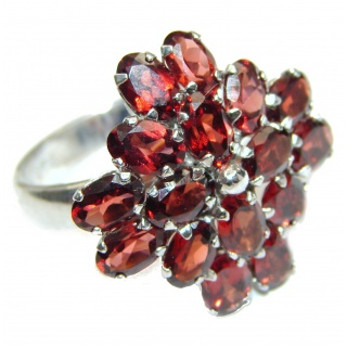 Large Natural Australian Garnet .925 Sterling Silver Statement ring size 9