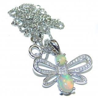 Exclusive Ethiopian Fire Opal .925 Sterling Silver handmade Necklaces