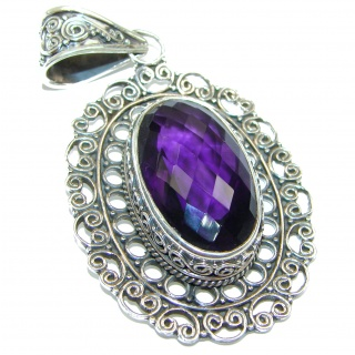 Amazing Amethyst .925 Sterling Silver handcrafted pendant