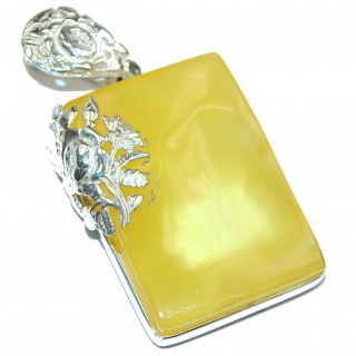 Natural Baltic Butterscotch Amber .925 Sterling Silver handmade Pendant