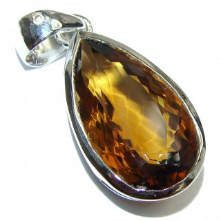 Antique Style Champagne Topaz .925 Sterling Silver Pendant