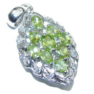 Genuine Peridot .925 Sterling Silver handcrafted Pendant