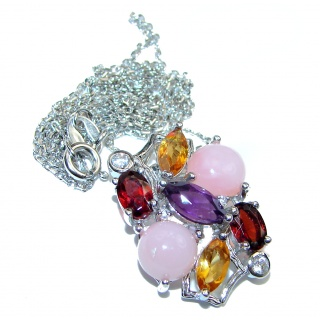 Exclusive Pink Opal .925 Sterling Silver handmade Necklaces