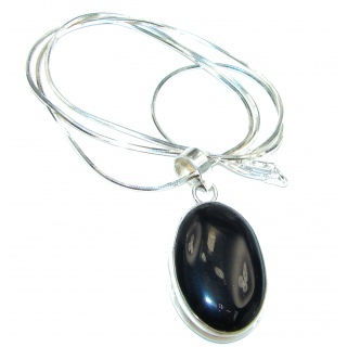 fancy .925 Sterling Silver Onyx Necklace