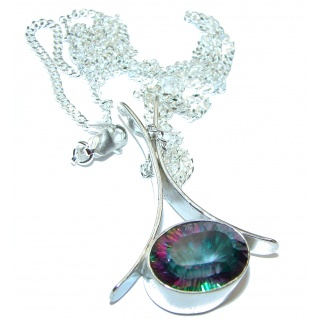 Awesome Natural Magic Topaz .925 Silver Necklace