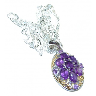 Purple Queen authentic Amethyst .925 Sterling Silver handcrafted necklace