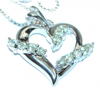 Love Posh Authentic White Topaz .925 Sterling Silver necklace